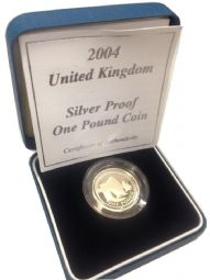 2004 Silver Proof One Pound Coin for sale